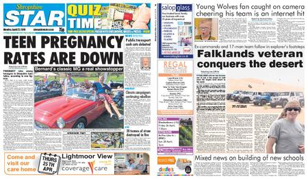 Shropshire Star Shrewsbury Edition – April 22, 2019