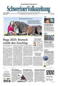 Schweriner Volkszeitung Hagenower Kreisblatt - 30. August 2018