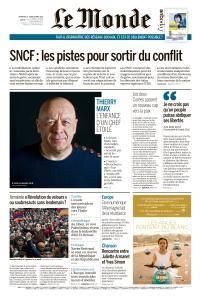 Le Monde du Dimanche 29 et Lundi 30 Avril 2018