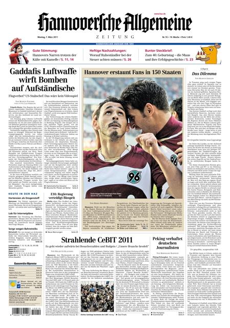 Hannoversche Allgemeine Zeitung - 07.03.2011