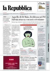 la Repubblica - 8 Aprile 2018