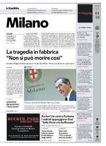 la Repubblica Milano - 17 Gennaio 2018