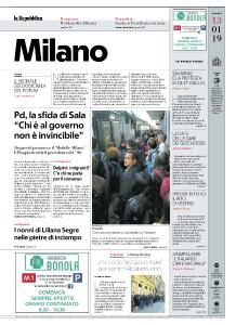la Repubblica Milano - 13 Gennaio 2019