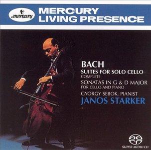 Janos Starker - Bach: Suites for Solo Cello (Complete), Sonatas in G & D Major for Cello & Piano (1963/1965/1991/2004)