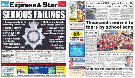 Express and Star Sandwell Edition – March 23, 2018