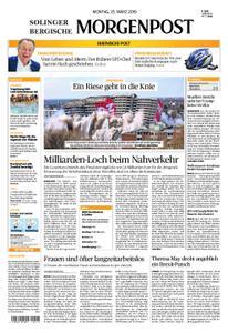 Solinger Morgenpost – 25. März 2019
