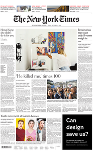 International New York Times - 06 September 2019