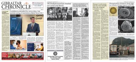 Gibraltar Chronicle – 23 January 2021
