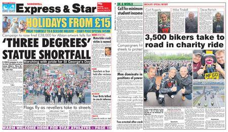 Express and Star Sandwell Edition – April 23, 2018