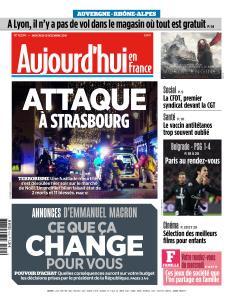 Aujourd'hui en France du Mercredi 12 Décembre 2018