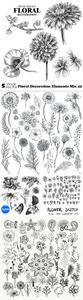 Vectors - Floral Decoration Elements Mix 42