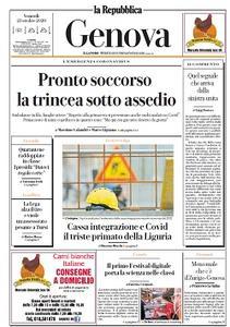la Repubblica Genova - 23 Ottobre 2020
