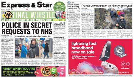 Express and Star City Edition – January 13, 2020