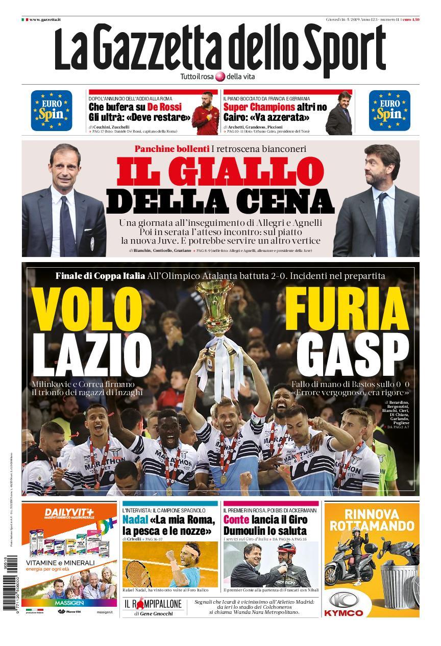La Gazzetta dello Sport Puglia – 16 maggio 2019