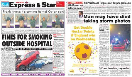 Express and Star Sandwell Edition – July 10, 2018