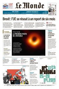 Le Monde du Vendredi 12 Avril 2019