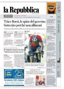 la Repubblica - 20 Luglio 2018