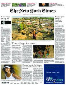 International New York Times - 27 August 2018