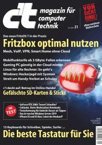 c't Magazin Nr.21 - 29 September 2018
