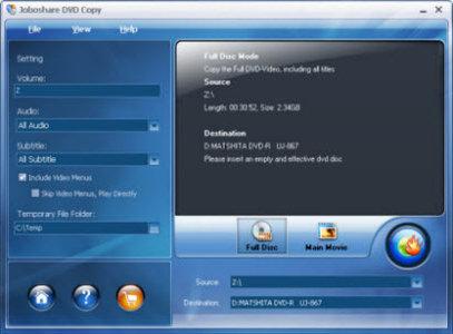 Joboshare DVD Copy 3.1.1.0805