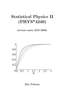 Physics Lecture Notes Statistical Mechanics