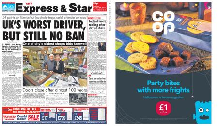 Express and Star City Edition – October 29, 2018