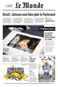 Le Monde du Mardi 22 Octobre 2019