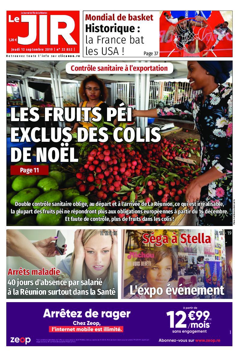 Journal de l'île de la Réunion - 12 septembre 2019