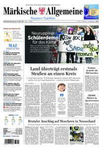Märkische Allgemeine Ruppiner Tageblatt - 16. März 2019