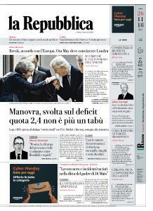 la Repubblica - 26 Novembre 2018