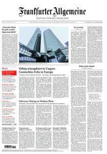 Frankfurter Allgemeine Zeitung F.A.Z. - 10. April 2018