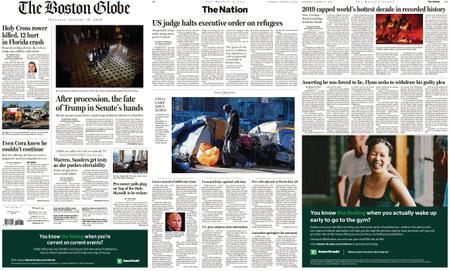 The Boston Globe – January 16, 2020