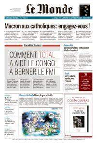 Le Monde du Mercredi 11 Avril 2018