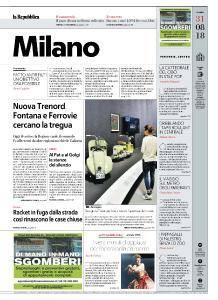 la Repubblica Milano - 31 Agosto 2018