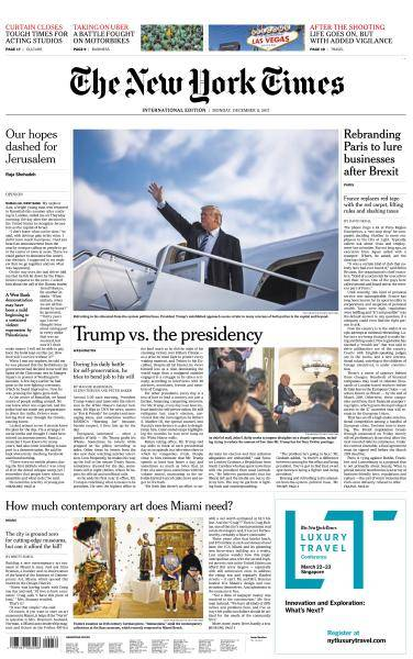 International New York Times - 11 December 2017