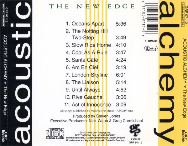 Acoustic Alchemy - The New Edge (1993) {GRP 97112}