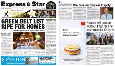 Express and Star City Edition – January 18, 2020
