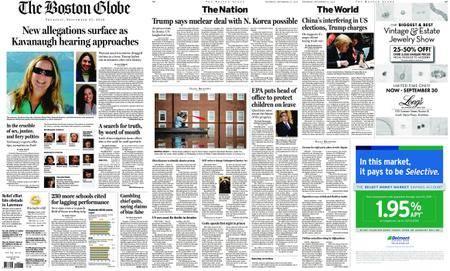 The Boston Globe – September 27, 2018