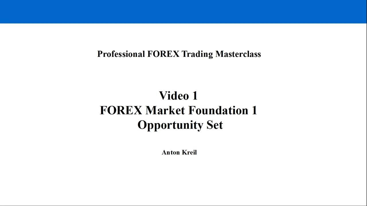 Anton kreil forex masterclass