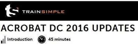 trainsimple - Acrobat DC 2016 Updates