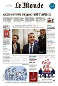 Le Monde du Mercredi 7 Mars 2018
