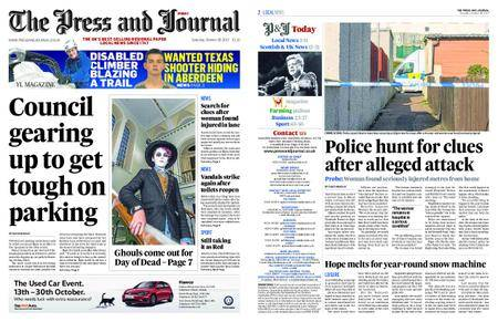 The Press and Journal Moray – October 28, 2017