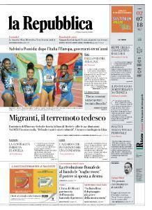la Repubblica - 2 Luglio 2018
