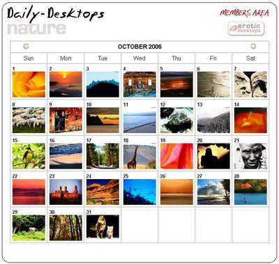 Daily Desktops Set Of Nature Desktops 2006-10
