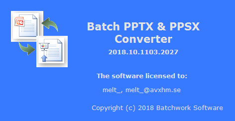 Batch PPTX and PPSX Converter 2019.11.315.2057