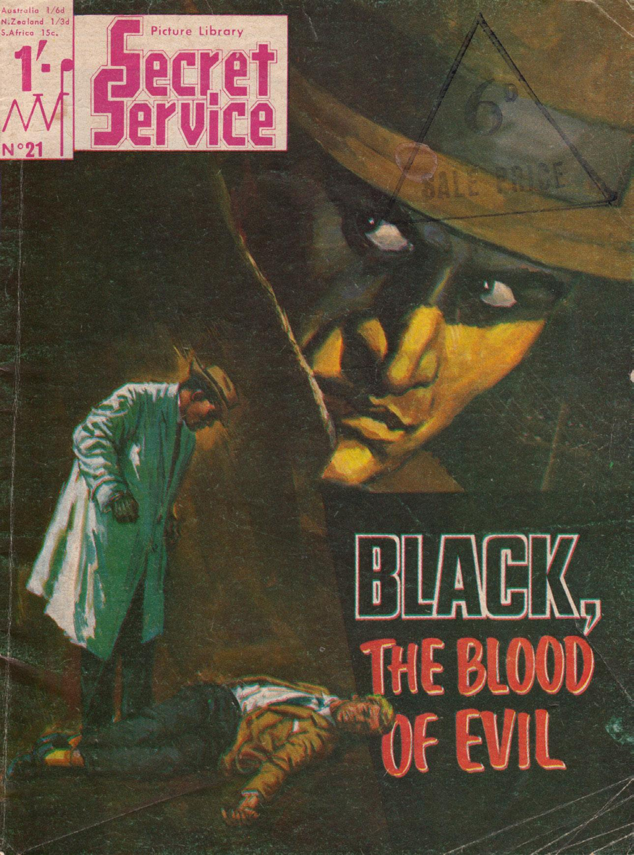 Secret Service Picture Library 021-Black, The Blood of Evil 1966 Mr Tweedy