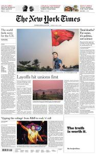 International New York Times - 11 May 2020
