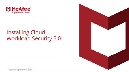 McAfee Cloud Workload Security v5.3.0.123