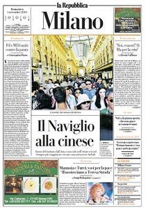 la Repubblica Milano - 1 Settembre 2019