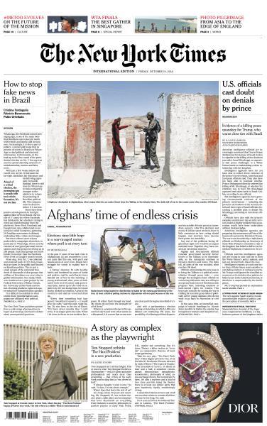 International New York Times - 19 October 2018
